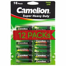 12 x Pack of 16pcs Camelion Super Heavy Duty Batteries Size AA AUS Stock