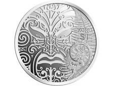 1 $Dólar Maorí Arte KORU NUEVA ZELANDA 1 onza plata pp proof 2013