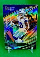 Tony Pollard 2019 Panini Select ROOKIE Field Level Prizm Silver Cowboys SSP RC