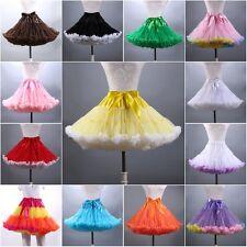 Fiesta Falda Tutú con enagua Fluffy Ballet Pettiskirt Dancewear Falda Vestido para mujeres