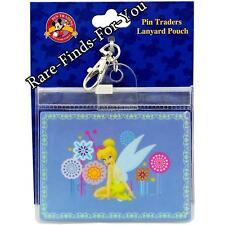 Disney Theme Parks Tinker Bell Pin Trading Lanyard Pouch Clip-On ID Holder (NEW)