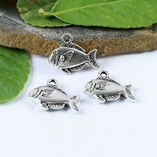 16pc Tibetan silver cute crafted fish charms h1095