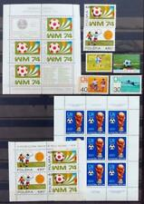 EUROPE 1974 SOCCER XF MNH** Collection Sheets + Sets Football FIFA World Cup