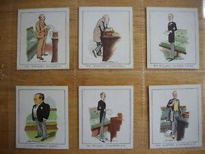 Cigarette Card Set (50) Notable M.P.s  Carreras Ltd. Med. Size - Parliament VGC
