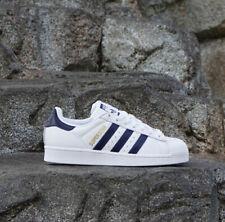 NIB  Men's Adidas B41996  Superstar White/Collegiate Royal/Gold Metal Size us 11