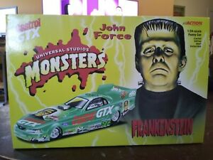 Action 1:24 John Force FRANKENSTEIN 2000 NHRA Die Cast Mustang Funny Car
