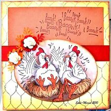 CHICKEN WIRE (Uget Photo #2) L@@K@examples art impressions rubber stamps