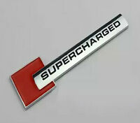 SUPERCHARGED Red Emblem Logo Decal Sticker Badge Front Rear For Audi