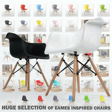 Eiffel Dining Chair Retro Plastic Office Lounge Chair Chairs Seat Faux Furniture