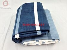 Hotel Collection Colonnade 100% Cotton KING Duvet Cover Indigo