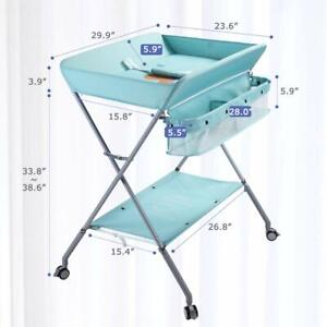 EGREE Baby Changing Table  Diaper Changing Station, Light Green NEW OPEN BOX