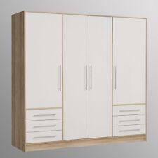 Kleiderschrank Jupiter Schlafzimmerschrank Schrank Sonoma Eiche und weiß 206 cm