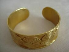 "PRECOLUMBIAN REPLICA BRACELET 1"" 24K GOLD PLATED GALERIA CANO JEWELRY COLOMBIA"