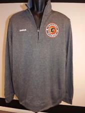 New Reebok Calgary Flames Men Size L Large Gray Jacket Spring 2017