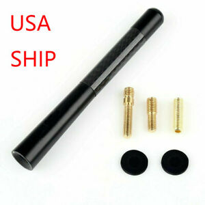 "NEW Black 4.7"" Carbon Fiber Sports Car Antenna Adjustable for Toyota Universal"