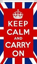 Keep Calm UK Flag 5 x 3 FT - 100% Polyester With Eyelets - Flag