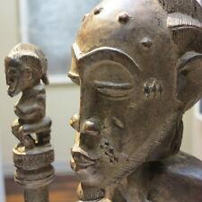 Baule Cote d'Ivoire carved African tribal ancestral figure sculpture Africa