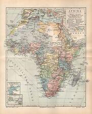 POLITISCHE ÜBERSICHT AFRIKA KOLONIEN DOA Kamerun Historische Landkarte 1907