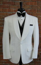 Mens 38 S Classic White Shawl Self Lapel One Button Tuxedo Dinner Jacket