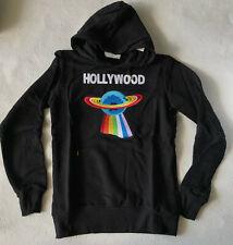 Gucci Sweater   Logo Print Men's Black Hollywood Sweatshirt  Italy  Hoodie S