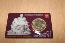 50 Cent Coincard Vatican 2013