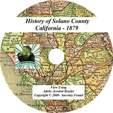 1879 History & Genealogy SOLANO County California CA