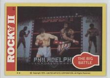 1979 Topps Rocky II #41 The Big Battle Non-Sports Card y8n