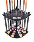 Cue Rack Only - 8  Pool Billiard Stick &  Ball Floor Stand W Scorer Black Finish