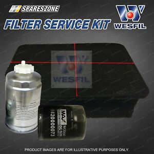 Wesfil Oil Air Fuel Filter Service Kit for Mahindra XUV500 2.2L TD 08/12-on