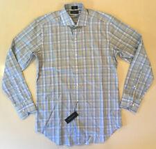 Peter Millar Collection Pastel Plaid Collar Button Casual Dress Shirt Small