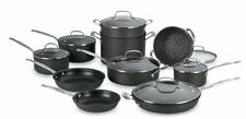 NEW Cuisinart 17 Piece Professional Chef Nonstick Stainless Steel Cookware Set