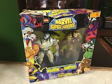 """1997 ToyBiz Marvel Super Heroes 10"""" Figure Doll MIB  WOLVERINE SABRETOOTH BOX DM"""
