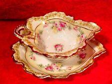 Rare Elite Works Limoges Fine Porcelain Mayonnaise Set c.1900-1914, L199
