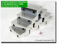 "(10 PACK) 6 x 2 x 2"" Standard Aluminum Soft Jaws Set Fits Kurt 6"" Vises Discount"