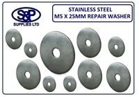 """M5 (3/16"""") X 25MM (1"""") A2 STAINLESS STEEL REPAIR WASHERS PENNY WASHER 5MM X 1"""""""