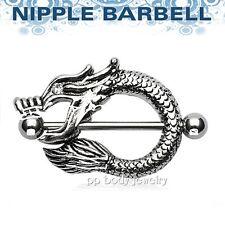 "1pc 14g - 1"" (25mm) Dragon Nipple Shield 316l Surgical Steel Nipple Ring Barbell"