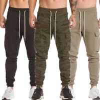 Fashion Men's Sport Pants Gym Slim Fit Trousers Running Joggers Gym Sweatpants