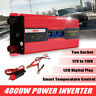 4000W Car Caravan Power Inverter DC12V to AC110V Sine Wave Converter LCD Display