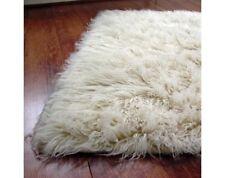brand new 120x180cm FLOKATI 1300gsm WOOL WHITE SHAGGY FLOOR RUG