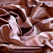 "Iridescent Mauve Dupioni 100% Silk Fabric, 44"" Wide, By The Yard (S-179)"