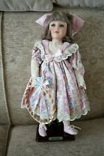 More details for alberon collectible porcelain doll samantha