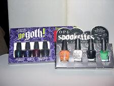 2x OPI HALLOWEEN Mini Sets **GO GOTH! & SPOOKETTES** Nail Polish~Bracelet~NEW