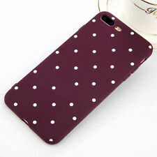For iPhone 6 6s 7 Plus Slim Shockproof Silicone Polka Dot  Case Cover Y