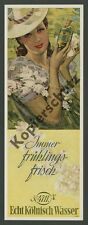 O. Color Advertising Otto ottler 4711 Lady Elegance Spring Blossoms Art Deco Cologne 1941