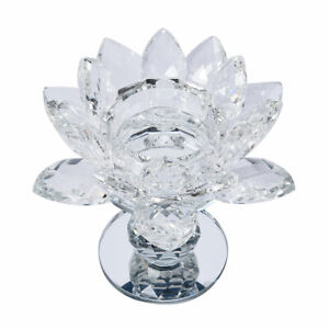 Shop LC Home Decor Table Top Decoration White Crystal Lotus Flower Candle Holder