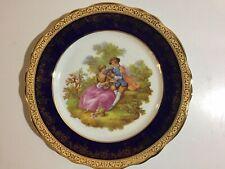 """Imperial Limoges~Fragonard~Collect or Plate~10""""~22 kt. Gold~Guilded Porcelain~Vtg"""