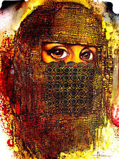 ACEO / Muslim Woman /  LE Print of Original Painting by Sergej Hahonin