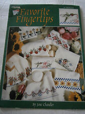 1996 Favorite Fingertips Towels Cross Stitch Pattern Book Borders Birdhouse Rose