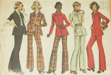 Simplicity 5247 Sewing Pattern Shirt Jacket Pants Vintage 1972 Size 16.5 Cut