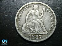 1887 P Seated Liberty Dime --  MAKE US AN OFFER!  #B7211